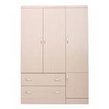 【LOHA】新樂生活改良式4x6衣櫃(胡桃/白橡)