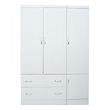 【LOHA】新樂生活改良式4x6衣櫃(白色)