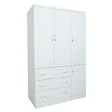 【LOHA】新樂生活改良式4x7衣櫃(白色)