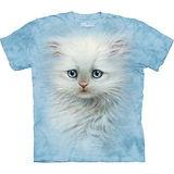 『摩達客』美國進口【The Mountain】自然純棉系列 小白絨貓設計T恤 (預購)