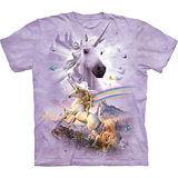 『摩達客』美國進口【The Mountain】自然純棉系列 雙彩虹獨角獸設計T恤 (預購)
