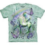 『摩達客』美國進口【The Mountain】自然純棉系列 獨角獸與蝴蝶設計T恤 (預購)