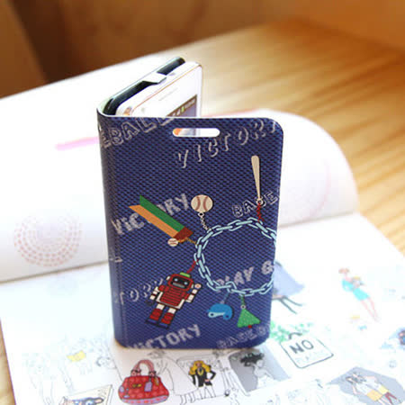 【Happymori】※Play by play※  側開手機皮套 適用iPhone 4S/4