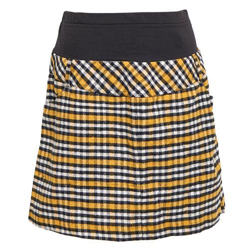 【ohoh-mini孕婦裝】經典格紋彈性包覆孕婦短裙