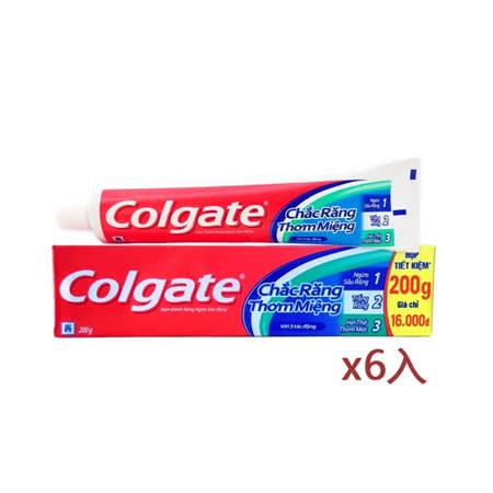 原裝進口Colgate三效合一牙膏200g*6入