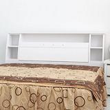 【LOHA】樂生活收藏家5尺雙人床頭箱(白色)