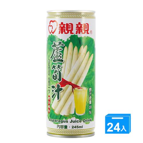 親親綠蘆筍汁245ml^~24入