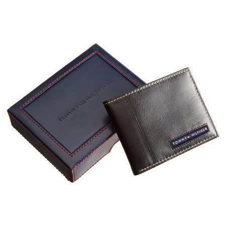 Tommy Hilfiger 男劍橋薄型黑色皮夾【預購】