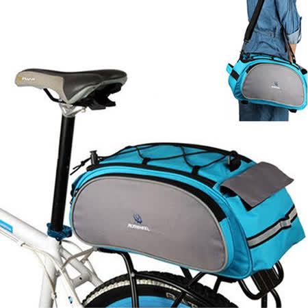 PUSH!自行車用品 自行車馬鞍袋/後貨袋/可背可提式快拆後座袋