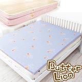 【奶油獅】冬夏兩用高磅數-天然涼爽竹青純棉透氣床墊(幻紫)-單人加大3.5尺
