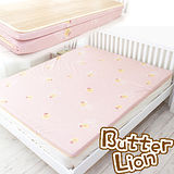 【奶油獅】冬夏兩用高磅數-天然涼爽竹青純棉透氣床墊(粉紅)-單人加大3.5尺