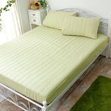 J‧bedtime【漾彩-翠綠】雙人防汙床包式保潔墊