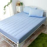 J‧bedtime【漾彩-寶藍】雙人防汙床包式保潔墊