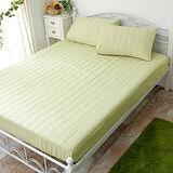 J‧bedtime【漾彩-翠綠】加大防汙床包式保潔墊