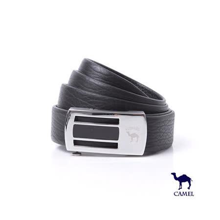 DF【包學院】CAMEL駱駝 - 時尚品味自動滑扣頭層牛皮皮帶