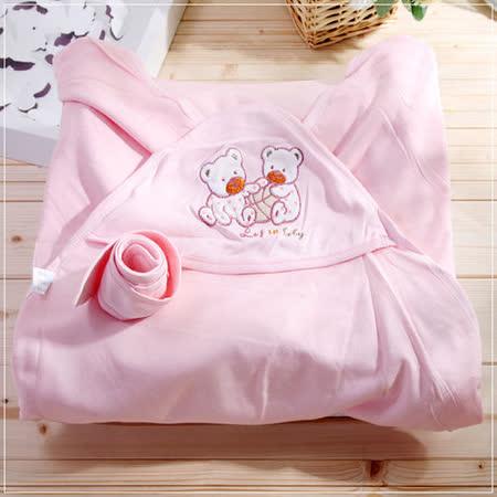 (購物車)魔法Baby~百貨專櫃正品嬰兒抱毯(粉)~嬰兒用品~k23077