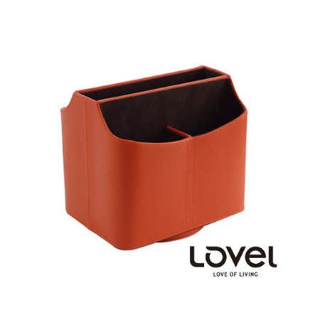 【LOVEL】義大利設計皮革辦公收納-旋轉收納盒