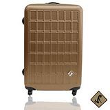 Miyoko 趣味方塊系列~經典28吋加厚加大輕硬殼行李箱-時尚金