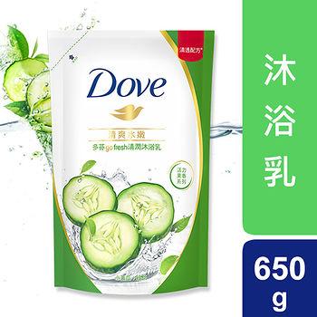 多芬Dove清爽水嫩沐浴乳補充包650ml