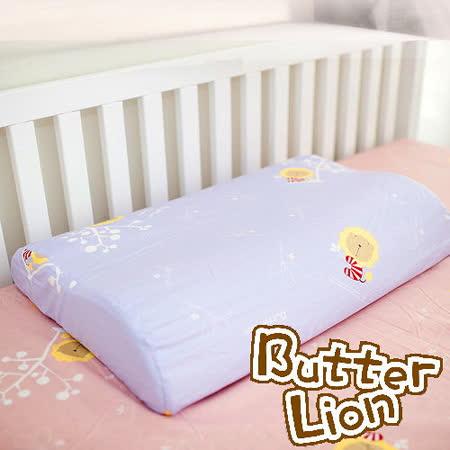 【奶油獅】正版授權~乳膠、記憶工學大枕專用100%純棉枕頭套(幻紫*2入)