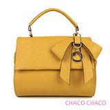 現貨【CHACO韓國】韓製Lady bag優雅甜心蝴蝶結吊飾包 NO.2947 曼士達黃色