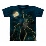 『摩達客』美國進口【The Mountain】自然純棉系列 變身狼嚎月 設計T恤 (預購)