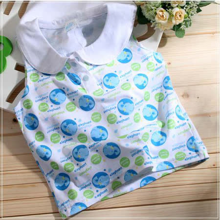 (購物車)魔法Baby ~可愛圖案無袖水手領上衣(水藍)~時尚設計童裝~k22964