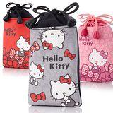 Hello Kitty超細纖維束口手機袋(2個一組)
