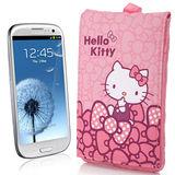 Hello Kitty牛津布手機包-蝴蝶結粉