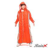 RainX 連身式 / 一件式 透氣防風雨衣(橘)