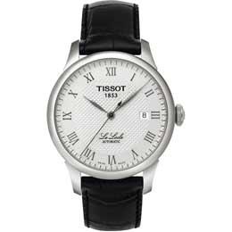 TISSOT 力洛克格紋經典男錶(黑皮帶) T41142333