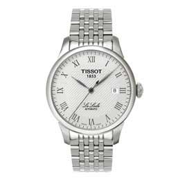 TISSOT 力洛克格紋經典男錶(白) T41148333