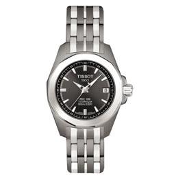 TISSOT PR50 鈦金屬運動女錶(鐵黑) T0080104406100