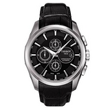 TISSOT Couturier 建構師三眼計時機械錶(黑) T0356271605100