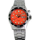 ORIENT 東方專業200米防水機械腕錶(橘/鋼帶) FEM6500AM