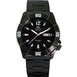 ORIENT 東方專業100米防水機械腕錶(IP黑/白) FEM7D001B