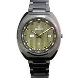 ORIENT 魔幻力量時尚石英錶(IP黑-螢光綠) FUG1U002F