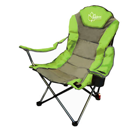 【OutdoorBase】太平洋高背三段式可調折合露營/休閒椅(綠/灰)-25018