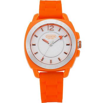 COACH Boyfriend 繽紛玩色中性休閒錶(橘) C014501426
