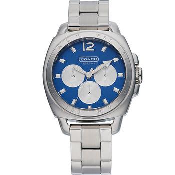 COACH Boyfriend 紐約風情三環中性錶(藍) C014501442