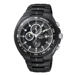【CITIZEN OXY 系列 皇家超MEN計時腕錶(黑)~公司貨AN4019-52E