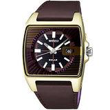 WIRED HYBRID太陽能立體三眼腕錶(黑金) V145-X013Q