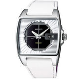 WIRED HYBRID太陽能立體三眼腕錶(白) V145-X013Z