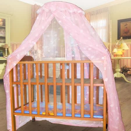 【凱蕾絲帝】嬰兒床架專用針織嬰兒蚊帳-適合65*125CM以內床架(粉紅)