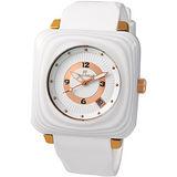 Folli Follie 優雅華麗時尚腕錶(白) WF7P048ZDW