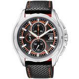 CITIZEN OXY 星際戰場光動能計時腕錶(黑皮-CA0270-08E)