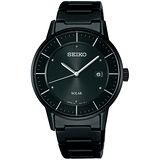 SEIKO SPIRIT 城市之風時尚太陽能腕錶(IP黑-SNE189J1 ) V147-0AK0SD