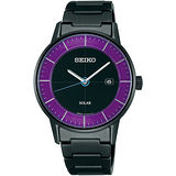 SEIKO SPIRIT 城市之風時尚太陽能腕錶(紫-SNE191J1 ) V147-0AK0P