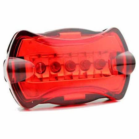 PUSH!自行車用品  5LED 6模式自行車尾燈 警示燈 閃光片