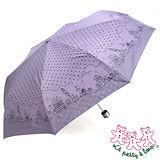 三隻小熊 卡通點點銀膠防風三折傘 (紫羅蘭)